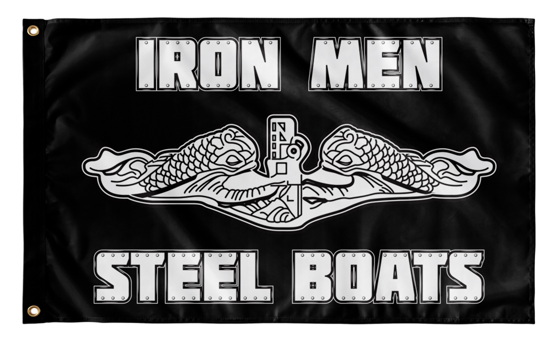 Iron Men Steel Boats - Dolphins Flag
