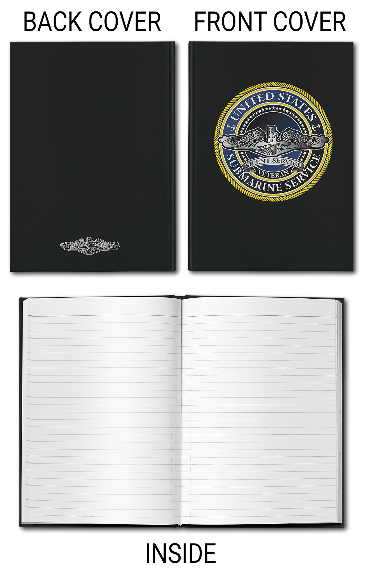 United States Submarine Service Classic Hardcover Journal